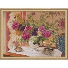 Cross Stitch Kit  Heirloom Lilies and by CrossStitchKitsOnly, $18.00