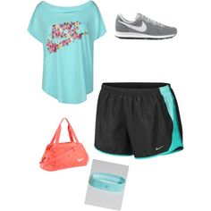 Gym Style by emma-victoria-e on Polyvore featuring polyvore, fashion, style and NIKE