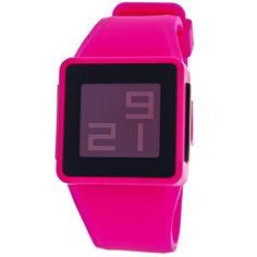 Nixon Men's Pink Newton Digital Watch