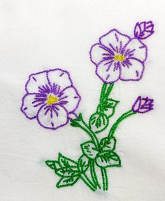 Rose of Sharon Hibiscus Dish Towel Hand by CraveCute