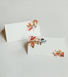 I already have a place card idea, but now I want these! So cute for a fall wedding.