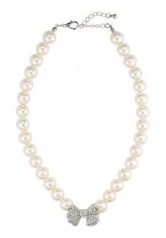APART Perlenkette / necklace, creme-silber