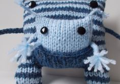 Yeti Yeti Monster Toy - Knitted Monster Toy with pocket for baby on Etsy, $48.00