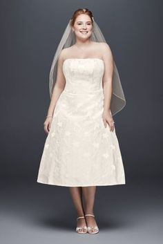 fc58b4a614b A tea-length wedding dress perfect for a casual wedding or even a bridal  brunch