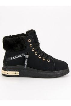 Zateplené vysoké tenisky s kožušinou CnB High Tops, High Top Sneakers, Shoes, Fashion, Moda, Zapatos, Shoes Outlet, Fashion Styles, Shoe