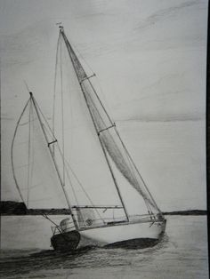 Sailboat  Group of 5 Original Pencil Drawings - ON SALE. $320.00, via Etsy.