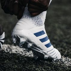 The adidas Virtuso Pack features bold bright flashes accented against crisp white and will be on pitch ready to put on a show in the UCL's final stages, along with the final games of domestic seasons. Adidas Soccer Boots, Adidas Football, Football Shoes, Football Kits, Football Cleats, Soccer Gear, Soccer Shop, Soccer Equipment, Custom Basketball Uniforms