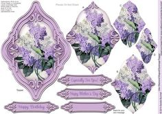 Lilac Diamond Shaped Pyramage Topper on Craftsuprint designed by Sandie Burchell - Beautiful Shaped Pyramage Topper with 3 Layers of Pyramage and choice of sentiment panels which includes: Happy Birthday, Especially For You! Happy Mother's Day or Blank for your own message. To search for more in this style click on my name and enter diamond pyramage topper in my search box. Please take a look at my other designs by clicking on my name. - Now available for download!