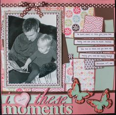 cute layout - like the bow above the picture