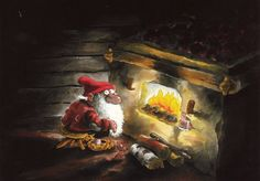 The Book of Finnish Elves by Mauri Kunnas Dobby is Finnish? Christmas Gnome, Christmas Cards, Troll, Cool Art Projects, Children's Literature, Goblin, Finland, The Book, Fairy Tales