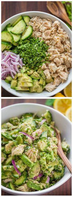 Avocado Tuna Salad Recipe – Tasty Food Collection