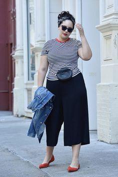 86649780f1c Plus Size Body Positive Fashion for Women. Culottes