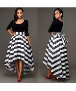 Womens Striped Boho Evening Party Long Maxi Beach Dress Chiffon Dress - $19.99