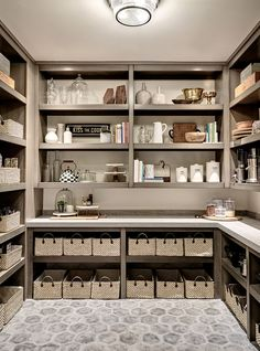 "kitchen pantry design like the shelving (in white) and the space of this closet. Would like mirror image of shelving on other side of pantry with the ""bar"" etc on back wall. Kitchen Pantry Design, Kitchen Organization Pantry, Diy Kitchen, Pantry Ideas, Room Kitchen, Organization Ideas, Pantry Laundry Room, Pantry Closet, Cabinet Closet"