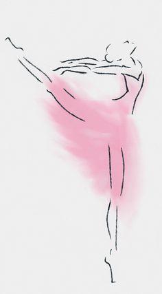 Ballerina Watercolor and Pencil …