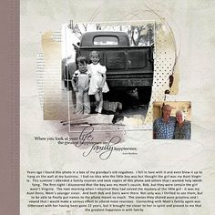 Love this before and after layout I found @Juanita Hackney nick Scrapper. Great way to scrap a vintage photo.