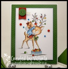 WILD ROSE STUDIO ~ ANGEL ON REINDEER...