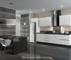Construindo Minha Casa Clean: Cozinhas Modernas com Cinza!!! Pequenas e Grandes!