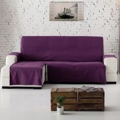 Funda de sofá cheisse longue práctica lona liso Funda Sofa Chaise Longue, Couch Covers, Small Rooms, Slipcovers, Bed Sheets, Upholstery, Sweet Home, Living Room, Interior Design