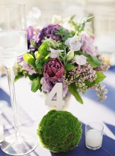 Pretty purple flowers: http://www.stylemepretty.com/new-york-weddings/new-york-city/brooklyn/2015/02/12/romantic-spring-wedding-at-the-palm-house/ | Photography: Judy Pak - http://www.judypak.com/