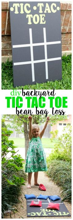 DIY Backyard Tic Tac Toe Bean Bag Toss - Quick and easy, and great for indoors, or outside! Or use chalk Diy Outdoor Toys, Outdoor Toys For Kids, Outdoor Fun, Outdoor Games, Outdoor Crafts, Outdoor Activities, Outdoor Decor, Backyard Gazebo, Backyard Play