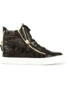97ee7b7a1204 Shop Giuseppe Zanotti Design zipped hi-top sneakers in Biondini Paris from  the world s best