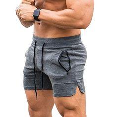 EVERWORTH Men's Solid Gym Workout Shorts Bodybuilding Running Fitted Training Jogging Short Pants with Zipper Pocket 3 Colors Gym Outfit Men, Bodybuilding Clothing, Estilo Fitness, Muscle Men, Mens Clothing Styles, Workout Shorts, Gym Men, Sport Outfits, Men Dress