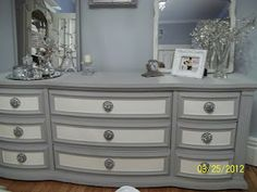 Love the grey with white. You have to see the before photos of this one.