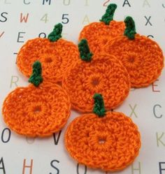 Crocheted Pumpkin Appliques by FineThreads on Etsy, $3.60