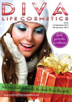 Catalog Diva Life Cosmetics oferta 16 Noiembrie 2013 20 Februarie 2014, noi #reduceri de #preturi si #cadouri speciale in brosura/catalogul #diva #lifecosmetics de iarna!