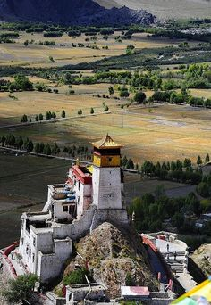Yarlung Valley, Yungbulakang Palace, Nedong, Tibet.  The palace was built in the 2nd century BC.  by reurinkjan