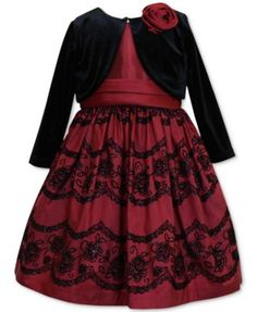 Jayne Copeland 2-Pc. Special Occasion Dress & Bolero Set, Toddler & Little Girls (2T-6X)