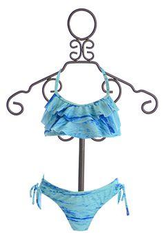 Kate Mack Swim Bikini for Girls Ocean Blue Sporty Swimwear, Kids Swimwear, Bikini Swimwear, Swimsuits, Summer Bathing Suits, Cute Bathing Suits, Kids Suits, Swimwear Cover Ups, Girl Costumes