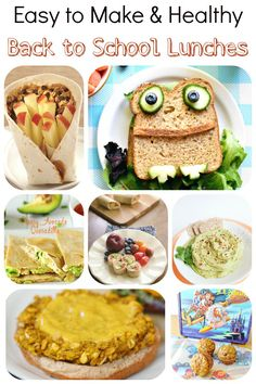 7 Easy-to-Make, Healthy Back-to-School Lunches that are fun and vegan!!