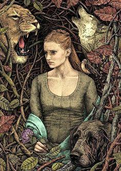 Eine rege Fantasie plus eine Prise Surrealismus sowie ein märchenhafter Beigeschmack, ergibt die ungefähre Bezeichnung für diese Kunstwerke. Kein Wunder, dass wir hier seltsame Kreaturen aus dem Wald zu Gesicht bekommen. Die entstanden alle aus der Hand vo