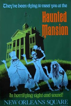 publicity poster haunted mansion...1970s