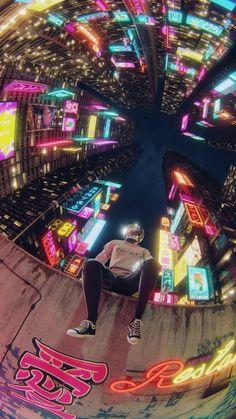 Cyberpunk(ish) workstations - photos and art Cyberpunk City, Cyberpunk Kunst, Cyberpunk Aesthetic, Cyberpunk 2077, Anime Kunst, Anime Art, Illustrator, Wow Art, Aesthetic Art