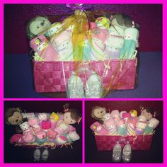Diaper babies baby shower gift for a girl! Love it! One of my favorites I've made yet! :-)