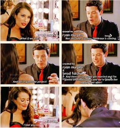 """And then we're gonna get married, and we're gonna live happily ever after."" aww Finn and Rachel = flawless couple #finchel #glee"