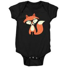 Hipster Red Fox Baby Bodysuit> Hipster Fox > Heartlocked