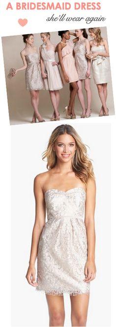 Pretty sheath dress: Sweet, feminine, sweetheart style neckline.
