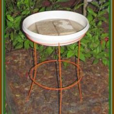 Homemade Bird Baths Ideas | Thumb of 2013-11-13/beckygardener/4ad37f