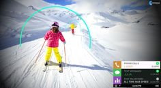 Ski Goggles offer the best augmented reality experience. Augmented reality glasses are developed to give you the pleasure of both the real and digital world Ski Googles, Augmented Reality Technology, Text Messages, Virtual Reality, Skiing, All About Time, Vr, Innovation, Future