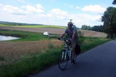 Alastair enjoying the Polish countryside.