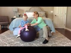 #101 Sitting Balance on a Ball: Exercises for a Baby with Low Tone - YouTube