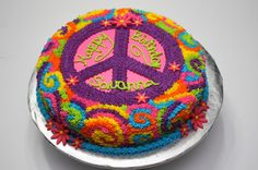 peace sign cakes   sign sign template from the cake cupcakes. labels: happy birthday to ...