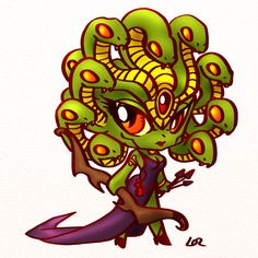 cartoon medusa | New chibi heroes and monsters.