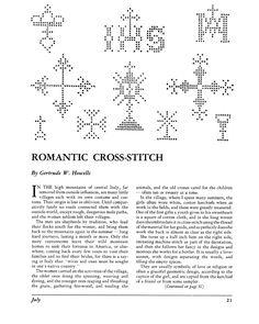 Cross Patterns for Cross-Stitch
