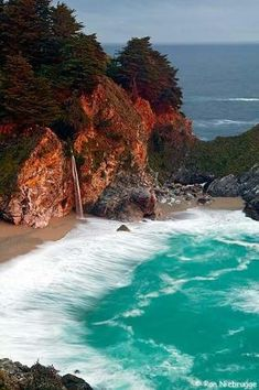 Julia Pfeiffer State Beach, HWY 1 CA. One of the most beautiful places in California. by KaleighS