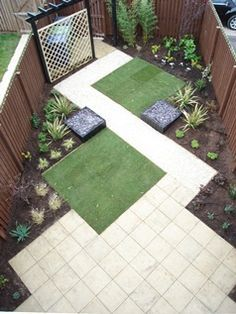 9 Smashing Clever Tips: Small Garden Landscaping Spring low maintenance garden landscaping drought tolerant. Small Garden Landscape, Narrow Garden, Landscape Plans, Narrow Patio Ideas, Small Patio, Back Garden Design, Garden Design Plans, Landscaping With Rocks, Front Yard Landscaping